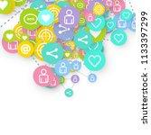 social media marketing ... | Shutterstock .eps vector #1133397299