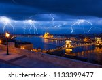 clouds and thunder lightnings... | Shutterstock . vector #1133399477