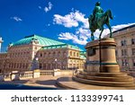 vienna state opera house square ... | Shutterstock . vector #1133399741