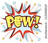 pow  vector | Shutterstock .eps vector #113340019