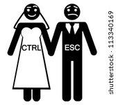 bride groom ctrl esc icon vector   Shutterstock .eps vector #113340169