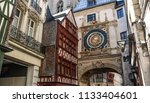 astronomical clock of the 14th... | Shutterstock . vector #1133404601