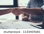 close up. two businessmen... | Shutterstock . vector #1133405681