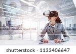 concept of modern technologies... | Shutterstock . vector #1133406647