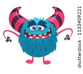 funny cartoon monster with big... | Shutterstock .eps vector #1133409221