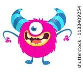 surprised cute cartoon monster... | Shutterstock .eps vector #1133409254