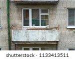 single old balcony of an... | Shutterstock . vector #1133413511