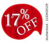 discounts sale banner 17 ... | Shutterstock .eps vector #1133420129