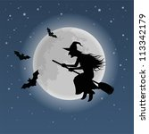 halloween witch | Shutterstock .eps vector #113342179