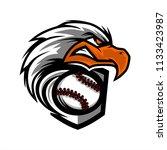 eagle head baseball team logo   Shutterstock .eps vector #1133423987