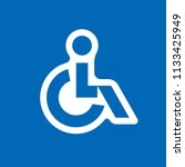 disabled handicap vector icon | Shutterstock .eps vector #1133425949