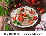 dumplings with strawberry ... | Shutterstock . vector #1133426927