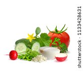 fresh and nutritious dietary... | Shutterstock .eps vector #1133428631
