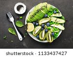 green fruit vegetables summer... | Shutterstock . vector #1133437427