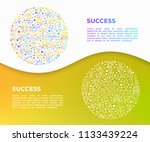 success concept in circle thin... | Shutterstock .eps vector #1133439224