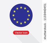 eu flag icon  round star icon... | Shutterstock .eps vector #1133440451