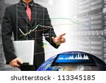 programmers in data center room ...   Shutterstock . vector #113345185