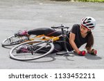 accident woman on the street... | Shutterstock . vector #1133452211