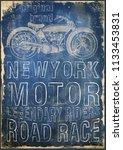 motorcycle label t shirt design ... | Shutterstock . vector #1133453831