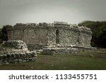 the tulum ruins in the riviera...   Shutterstock . vector #1133455751