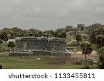 the tulum ruins in the riviera...   Shutterstock . vector #1133455811