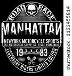 vintage motorcycle t shirt... | Shutterstock . vector #1133455814