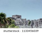 the tulum ruins in the riviera...   Shutterstock . vector #1133456039
