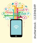 tree social network concept | Shutterstock .eps vector #113346349