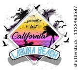 california miami summer t shirt ... | Shutterstock . vector #1133463587