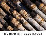 oil drill pipe. rusty drill... | Shutterstock . vector #1133469905