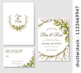 wedding invitation card set... | Shutterstock .eps vector #1133469947