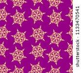golden snowflake simple... | Shutterstock .eps vector #1133470541