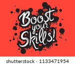 handdrawn graffiti boost your... | Shutterstock .eps vector #1133471954