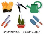 gardening icons set. set of 6... | Shutterstock .eps vector #1133476814