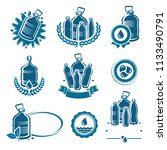 bottles water labels and... | Shutterstock .eps vector #1133490791
