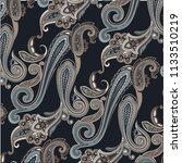 traditional paisley pattern   Shutterstock .eps vector #1133510219