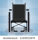 wheelchair front design in... | Shutterstock .eps vector #1133521874