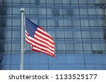 american flag waving in a... | Shutterstock . vector #1133525177