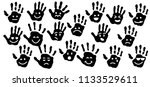 hand palm print of person child ...   Shutterstock .eps vector #1133529611