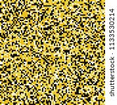 yellow black and white pixel... | Shutterstock .eps vector #1133530214