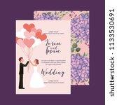 couple wedding card   Shutterstock .eps vector #1133530691