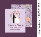 couple wedding card | Shutterstock .eps vector #1133531297