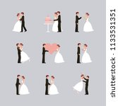 wedding card bride and groom... | Shutterstock .eps vector #1133531351