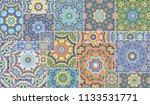 vector patchwork quilt pattern. ...   Shutterstock .eps vector #1133531771