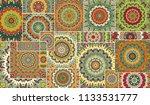 vector patchwork quilt pattern. ...   Shutterstock .eps vector #1133531777