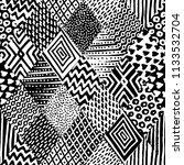 seamless black and white...   Shutterstock .eps vector #1133532704