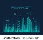 panama city skyline  panama.... | Shutterstock .eps vector #1133538434