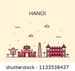 hanoi skyline  vietnam. trendy... | Shutterstock .eps vector #1133538437