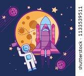 space galaxy card | Shutterstock .eps vector #1133539511