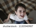 toddler child happy on the... | Shutterstock . vector #1133540987